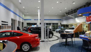 Car Dealership After Lighting