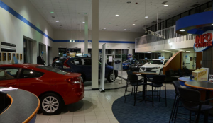 Car Dealership Before Lighting