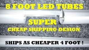 8 Foot LED Tube Designed for Cheapest Shipping! Retrofit Without a Ballast Bypass T8 T12 Conversion