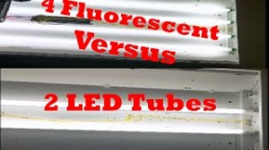 Delamp From 4 Fluorescent Tubes to 2 LED / T8 / T10 / T12