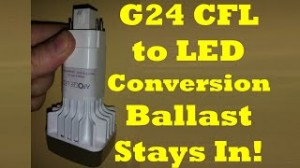 G24 LED Retrofit Without Ballast Bypass / PL Conversion from CFL 26, 32, 42 Watt