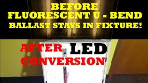 LED U Bent Retrofit Without Ballast Bypass / 2x2 Conversion of Fluorescent U Bend