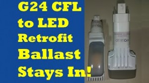 PL Conversion of CFL 26, 32, 42 Watt / Recessed G24 LED Retrofit Leave Ballast In!