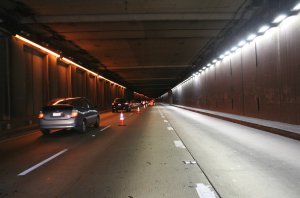 Tunnel Before/After LED Roadway Lighting