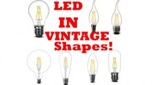 Vintage LED Retrofit Any Shape Filament Bulb